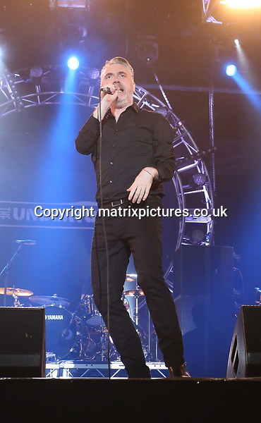 PICTURE: GRAHAM READING / MATRIXPICTURES.CO.UK<br /> PLEASE CREDIT ALL USES<br /> <br /> WORLD RIGHTS<br /> <br /> Punk rock/new wave band The Undertones perform at the Isle of Wight Festival in England.<br /> <br /> JUNE 11th 2017<br /> <br /> REF: GRG 171247