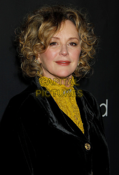 """BONNIE BEDELIA.""""Parenthood"""" Premiere Party at the Director's Guild of America, Los Angeles, California, USA..February 22nd, 2010.headshot portrait black velvet yellow high collar .CAP/ADM/MJ.©Michael Jade/AdMedia/Capital Pictures."""