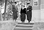 Kaisa Kallio (1878-1954) visiting a holiday village at Lepopirt created by Helsinki Workers' Association for their members, Finland 1939