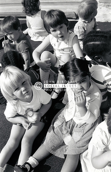 Forest Fields playgroup in new community centre, Nottingham UK 1985