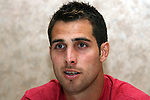 Carlos Bocanegra on Wednesday, May 17th, 2006 at Embassy Suites Hotel in Cary, North Carolina. The United States Men's National Soccer Team held player interview sessions as part of their preparations for the upcoming 2006 FIFA World Cup Finals being held in Germany.