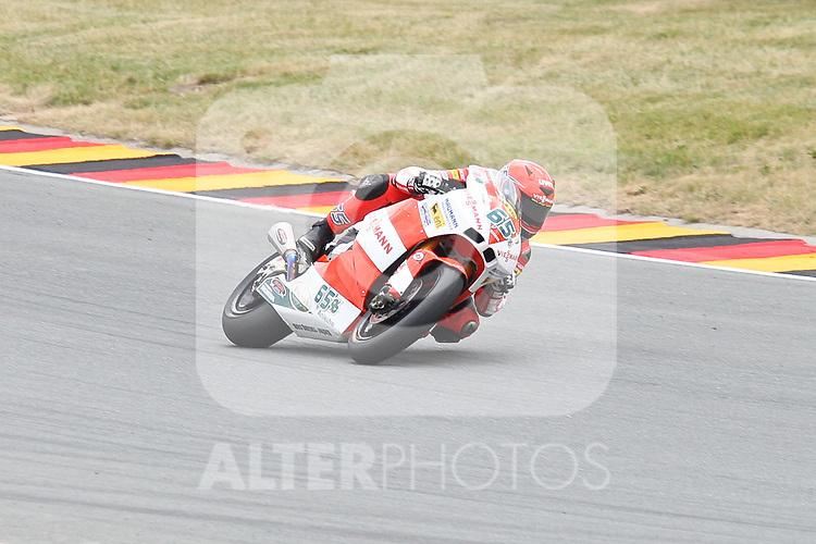 17.07.2010, MotoGP eni Motorrad Grand Prix Deutschland, Sachsenring, GER, im Bild Stefan Bradl (Viessmann Kiefer Racing #65), Moto2 Foto © nph / Hammes