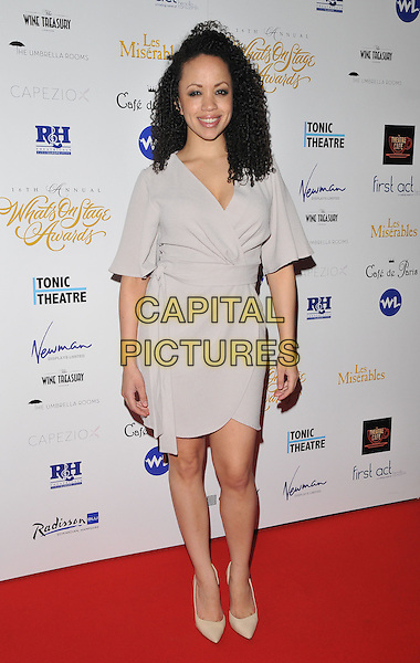 Cat Simmons attends the Whatsonstage.com Awards Concert 2016, Prince of Wales Theatre, Coventry Street, London, UK, on Sunday 21 February 2016.<br /> CAP/CAN<br /> &copy;CAN/Capital Pictures