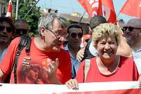 Roma, 17 Giugno 2017<br /> Maurizio Landini e Susanna Camusso<br /> Manifestazione nazionale CGIL. Rispetto per il lavoro la democrazia e la Costituzione, contro i Voucher