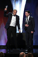 LOS ANGELES - JUNE 2:  Joel Karsberg, left, and Jesse Daniels accept the Outstanding Achievement in Nonfiction Production award onstage during the Critics' Choice Real TV Awards at the Beverly Hilton on June 2, 2019 in Beverly Hills, California. (Photo by Willy Sanjuan/PictureGroup)