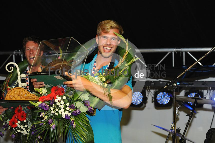 ZEILSPORT: LEMMER: 26-08-2017, IFKS Skûtsjesilen huldiging, C klasse Gerrit Huisman (skûtsje Ut 'e strijd) ©foto Martin de Jong