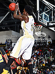 Alabama State Hornets guard Ivory White (5) in action during the SWAC Championship game between the Alabama State Hornets and the Grambling State Tigers at the Special Events Center in Garland, Texas. Alabama State defeats Grambling State 65 to 48.