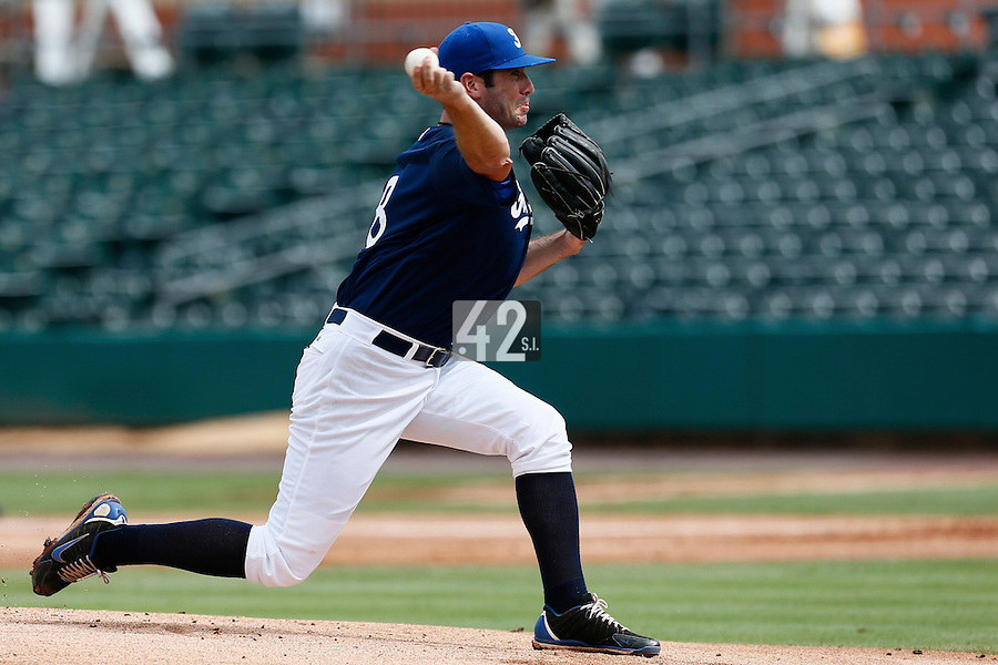 22 September 2012: Pitcher Pierrick Le Mestre pitches against South Africa during South Africa 5-2 win over France during the 2012 World Baseball Classic Qualifier round, in Jupiter, Florida, USA.