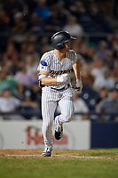 Trenton Thunder Kyle Holder (6) runs to first base during an Eastern League game against the New Hampshire Fisher Cats on August 20, 2019 at Arm & Hammer Park in Trenton, New Jersey.  New Hampshire defeated Trenton 7-2.  (Mike Janes/Four Seam Images)