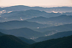 Spring view from the slopes of Mount Mitchell