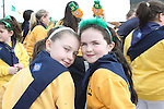 Aoife Connor and Ciara Mimna at the 2011 St.Patrick's Day Parade in Drogheda...(Photo credit should read Jenny Matthews/www.newsfile.ie)....This Picture has been sent you under the conditions enclosed by:.Newsfile Ltd..The Studio,.Millmount Abbey,.Drogheda,.Co Meath..Ireland..Tel: +353(0)41-9871240.Fax: +353(0)41-9871260.GSM: +353(0)86-2500958.email: pictures@newsfile.ie.www.newsfile.ie.