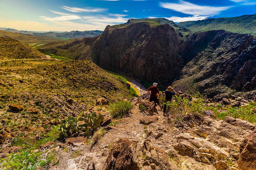 The Camino del Rio (along the Rio Grande River, which is the border of the USA and Mexico. Mexico is on the right side of the river), Big Bend Ranch State Park, Texas USA.