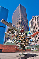 Bunker Hill, Financial district, California Plaza,  Downtown, Los Angeles, CA,  Architectural, Buildings, Nancy Rubins Sculpture, MOCA, American, European, contemporary art,