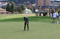 Thorbjorn Olesen (DEN) on the 10th green during Round 3 of the Open de Espana 2018 at Centro Nacional de Golf on Saturday 14th April 2018.<br /> Picture:  Thos Caffrey / www.golffile.ie<br /> <br /> All photo usage must carry mandatory copyright credit (&copy; Golffile | Thos Caffrey)