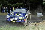 Pix: Shaun Flannery/shaunflanneryphotography.com...COPYRIGHT PICTURE>>SHAUN FLANNERY>01302-570814>>07778315553>>..1995 Network Q RAC Rally..19th November - 22nd November 1995..Colin McRae and Derek Ringer..Subaru Impreza 555.555 Subaru World Rally Team