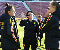 20191008 CLUJ NAPOCA: Belgium's assistant coach Tamara Cassimon is pictured before the match between Belgium Women's National Team and Romania Women's National Team as part of EURO 2021 Qualifiers on 8th of October 2019 at CFR Stadium, Cluj Napoca, Romania. PHOTO SPORTPIX | SEVIL OKTEM