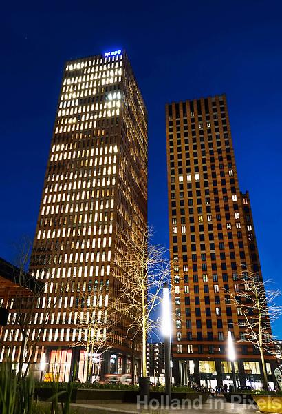 Nederland Amsterdam 2018 . De Zuidas. De Symphony torens.  Kantoren van o.a. APG en Arcadis. Foto Berlinda van Dam / Hollandse Hoogte