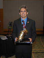 Jaime Moreno receives an Adidas special presentation for all time leading scorer. DC United 4th Annual Awards Reception honoring player achievements for the 2007 season took place at the Ronald Reagan Building in Washington, DC on October 22, 2007.