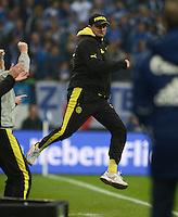 FUSSBALL   1. BUNDESLIGA   SAISON 2012/2013    25. SPIELTAG FC Schalke 04 - Borussia Dortmund                         09.03.2013 Trainer Juergen Klopp (Borussia Dortmund) jubelt nach dem 2:1