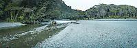 Morning at Smoothwater River near Jackson Bay, West Coast, South Westland, UNESCO World Heritage Area, New Zealand, NZ