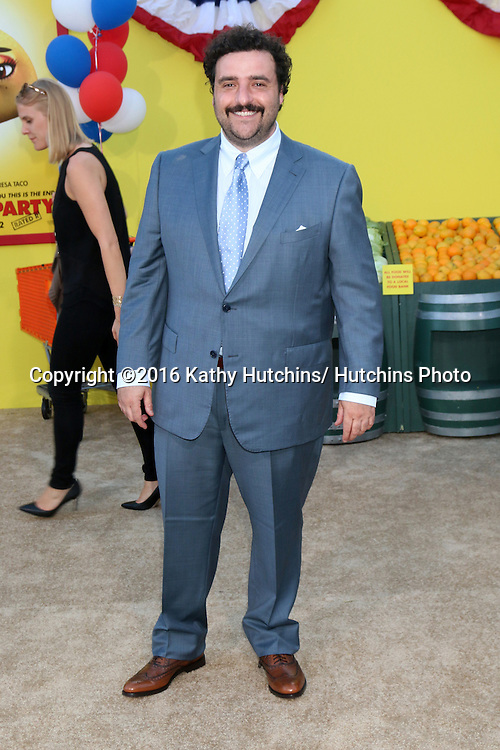 "LOS ANGELES - AUG 9:  David Krumholtz at the ""Sausage Party"" Premiere at the Village Theater on August 9, 2016 in Westwood, CA"
