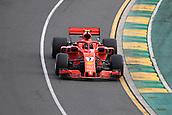 24th March 2018, Melbourne Grand Prix Circuit, Melbourne, Australia; Melbourne Formula One Grand Prix, qualifying; Scuderia Ferrari;  Kimi Raikkonen during qualifying