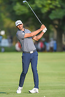 Dustin Johnson (USA) hits his approach shot on 18 during round 4 of the World Golf Championships, Mexico, Club De Golf Chapultepec, Mexico City, Mexico. 2/24/2019.<br /> Picture: Golffile | Ken Murray<br /> <br /> <br /> All photo usage must carry mandatory copyright credit (© Golffile | Ken Murray)