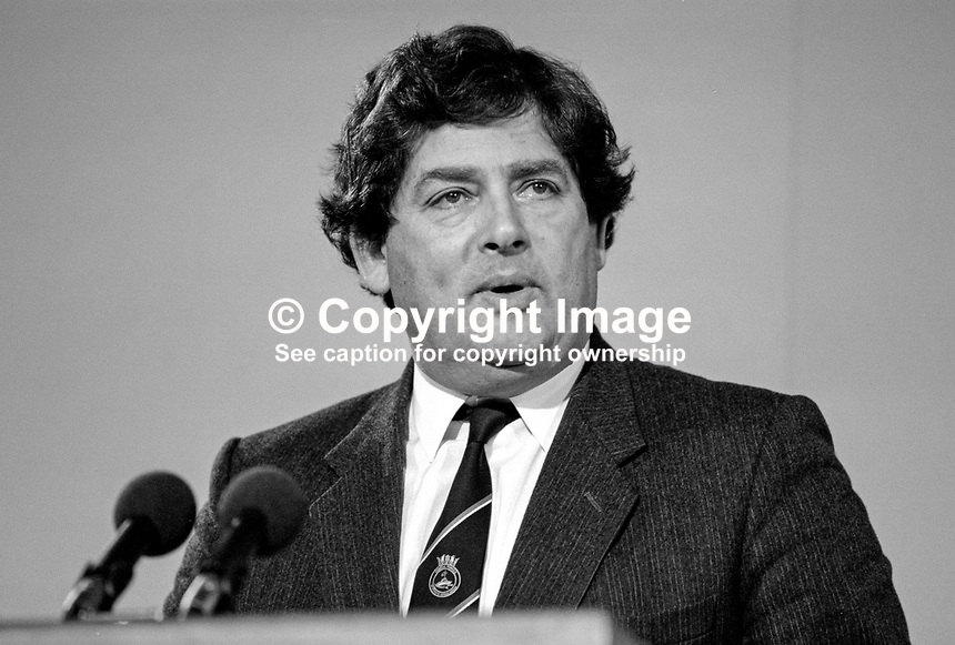 Nigel Lawson, MP, Conservative Party, Chancellor of the Exchequer, UK, 19871032NL1..Copyright Image from Victor Patterson, 54 Dorchester Park, Belfast, UK, BT9 6RJ..Tel: +44 28 9066 1296.Mob: +44 7802 353836.Voicemail +44 20 8816 7153.Skype: victorpattersonbelfast.Email: victorpatterson@me.com.Email: victorpatterson@ireland.com (back-up)..IMPORTANT: If you wish to use this image or any other of my images please go to www.victorpatterson.com and click on the Terms & Conditions. Then contact me by email or phone with the reference number(s) of the image(s) concerned.