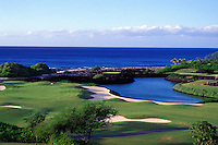 Hole Nos. 9 and 10 of the Mauna Lani North golf course, the architects of which are Nelson and Haworth, on the Big Island of Hawaii