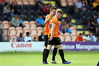 Dan Sparkes of Barnet(left) is congratulated after scoring the first goal during Barnet vs Wycombe Wanderers, Friendly Match Football at the Hive Stadium on 13th July 2019