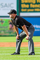 base umpire James Folske during game one of a Midwest League doubleheader between the Wisconsin Timber Rattlers and the Kane County Cougars on June 23, 2017 at Fox Cities Stadium in Appleton, Wisconsin.  Kane County defeated Wisconsin 4-3. (Brad Krause/Krause Sports Photography)