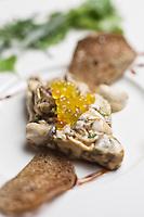 Europe/France/2B/Haute Corse/Balagne/Calvi:  L'huître nustrale en tatare au cédrat, crème de citron,recette de Thomas d'Arcangelo,  Hôtel-Restaurant: La Signoria