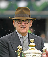 LEXINGTON, KY - APRIL 14: Owner Peter Brarnt after  Sistercharlie (IRE), ridden by John Velazquez, won the G1 Coolmore Jenny Wiley at Keeneland Race Course on April 14, 2018 in Lexington, KY. (Photo by Jessica Morgan/Eclipse Sportswire/Getty Images)