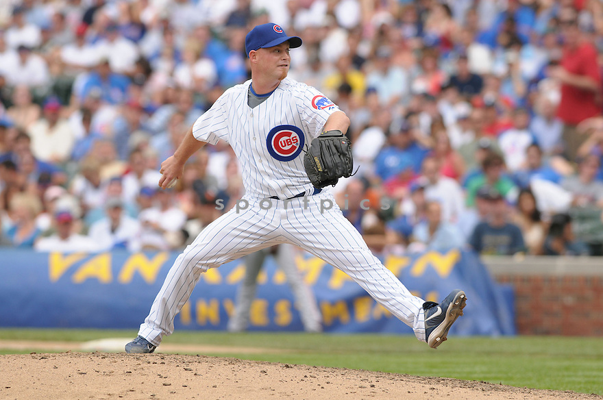 CHAD GAUDIN, of the Chicago Cubs , in action during the Cubs  game against the San Francisco Giants  on July 12, 2008 in Chicago . The Cubs won  game 8-7.