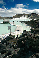 One of the most visited tourist attractions in all of Iceland, the steamy waters of the Blue Lagoon are rich in minerals like silica and sulphur. The temperature of this man-made lagoon called the Blue Lagoon averages 37–39 °C, and the soothing, geothermal seawater is rumored to have curative powers.
