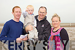 Family day out for Connor and Darragh Mulvihill(Asdee), David Doherty(Ballylongford) abd Fiona Enright(Asdee) enjoying the horse racing on Asdee beach last Sunday afternoon.