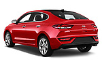Car pictures of rear three quarter view of a 2018 Hyundai i30 Fastback Shine 5 Door Hatchback angular rear