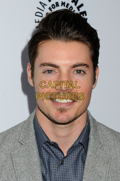 "Josh Henderson.""Television: Out Of The Box"" Museum Exhibit created by Warner Bros. Television Group held at The Paley Center, Beverly Hills, California, USA..April 12th, 2012.headshot portrait blue grey gray stubble facial hair.CAP/ADM/BP.©Byron Purvis/AdMedia/Capital Pictures."