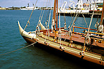 Hawaii: Honolulu, Hokulea, historic voyaging canoe. Photo: hiorig102 .Photo copyright Lee Foster, www.fostertravel.com, 510/549-2202, lee@fostertravel.com