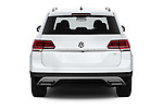 Straight rear view of a 2018 Volkswagen Atlas S 5 Door SUV stock images