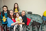 The family of Érin O'Sullivan from Tralee are asking people to buy a teddy bear from Caball's Toymaster Tralee to help raise funds for new equipment for Érin who suffers from Ataxia Telangiectasia. Pictured are: Caroline, Paul, Érin, Louise and Megan O'Sullivan.