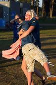 Swedish scouts hugging. Photo: Magnus Fröderberg/Scouterna