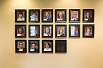 May 7, 2014. Durham, North Carolina.<br />  Photographs of Physician Assistant Program staff hang in one of the hallways of the building that houses the program.<br />  The Duke University School of Medicine Physician Assistant Program is one of the top programs in the country for the training of physician's assistants. PA's are in high demand, and are taking over many of the tasks traditionally done by MD's, so the competition for the program is intense. In the most recent class, there were only 88 spots for a application pool of 1600.