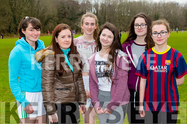 Milltown Presentation athletes at the Kerry Secondary schools cross country championships in Killarney on Wednesday were l-r: Amy Burke, Stephanie Sheahan, Roisin Whelan, Kaya Flynn, Lauren Mullane, Michaela Daly,