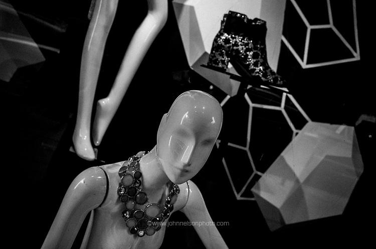 mannequin in the window, Washington, DC