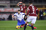 Tomas Rincon of Torino FC brings down Gaston Ramirez of Sampdoria on the edge of the penalty area conceding aa free kick from which the Samdoria number 11 scored to level the match at 1-1 during the Serie A match at Stadio Grande Torino, Turin. Picture date: 8th February 2020. Picture credit should read: Jonathan Moscrop/Sportimage