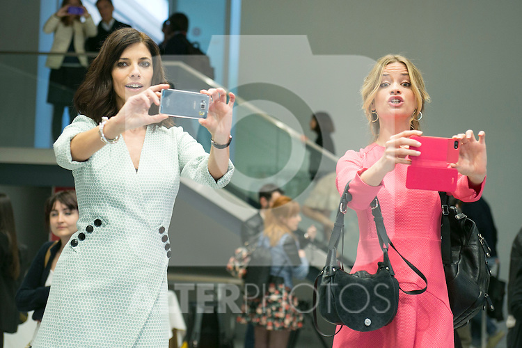 "Maribel Verdu and Paula Cancio attend the Presentation of ""Happy 140"" (Felices 140) Movie at Eurobuilding Hotel, Madrid,  Spain. April 07, 2015.(ALTERPHOTOS/)Carlos Dafonte)"