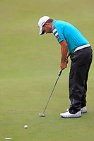 Pablo Larrazabal (ESP) putts on the 9th green during Saturday's Round 3 of the 2017 Omega European Masters held at Golf Club Crans-Sur-Sierre, Crans Montana, Switzerland. 9th September 2017.<br /> Picture: Eoin Clarke | Golffile<br /> <br /> <br /> All photos usage must carry mandatory copyright credit (&copy; Golffile | Eoin Clarke)