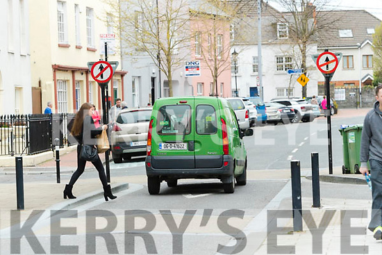 Roadsigns facing the wrong way in Tralee on Wednesday.