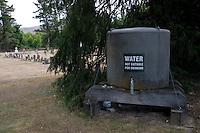 Water tank & cemetery 2008